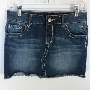 Justice denim skirt with shorts underneath.  16